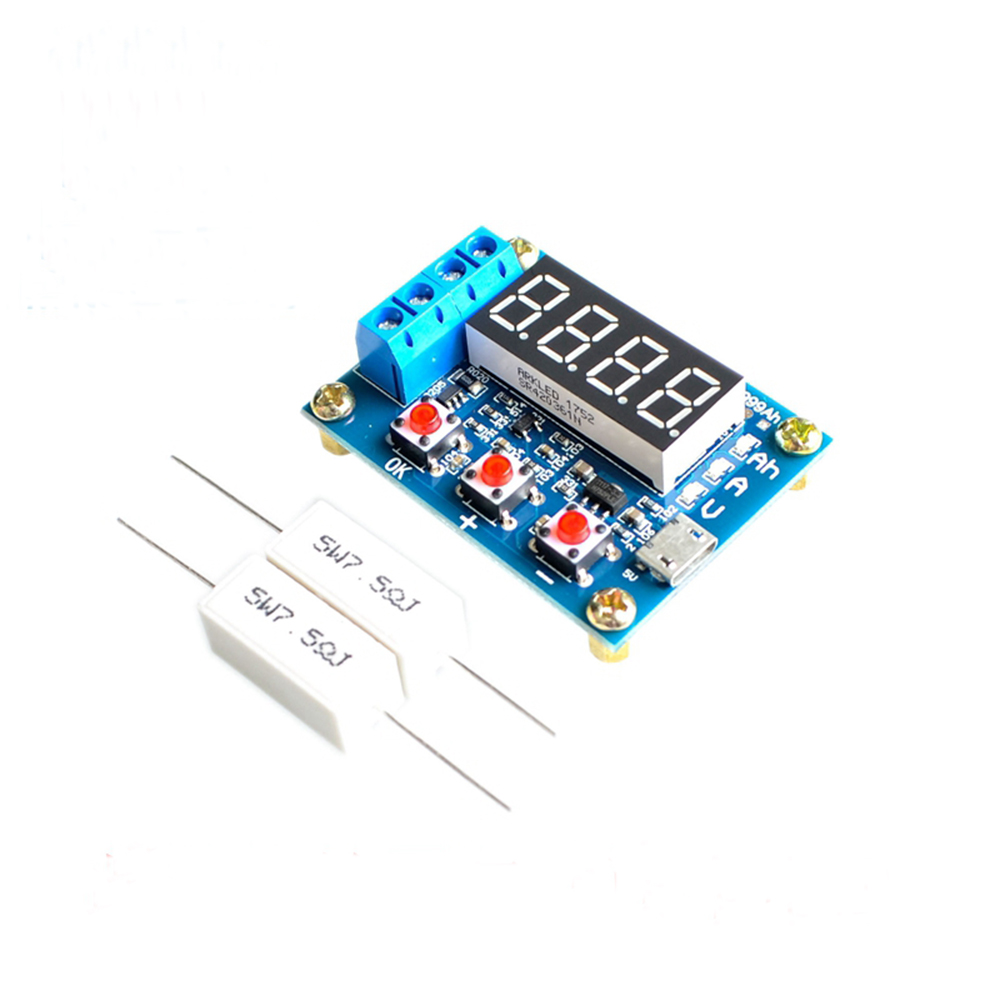 ZB2L3 7 Segment Led Display Module 18650 Li-ion Lithium Battery Capacity Tester Display+Resistance Meter Discharge Display Board