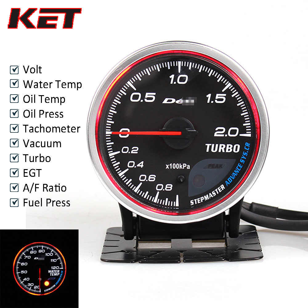 Defi Advance CR 2.5 بوصة عداد تلقائي متر توربو دفعة/درجة حرارة الماء/درجة حرارة الزيت/النفط الصحافة/RPM/فولت/فراغ/تحويلة درجة الحرارة/أفر/مقياس ضغط الوقود