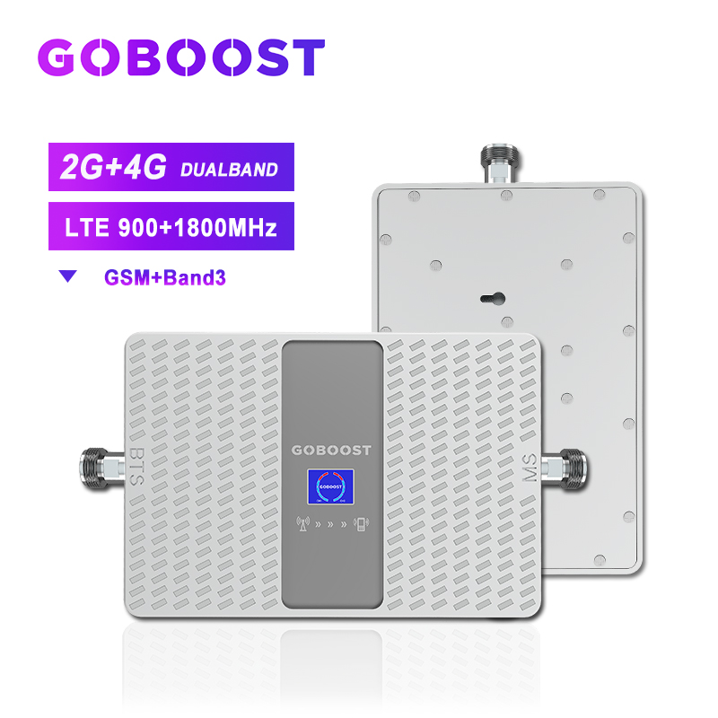 GSM Cellular Signal Amplifier 2G 900mhz LTE 4G DCS 1800mhz Cell Phones Singal Booster Repeater 4G Dual Band Repeater 70dB Band3
