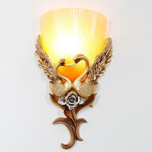 Aisle Lights Swan Wall Lights Living Room Decoration Background Light For Stairs Aisle Bedside Wall Lamp european swan wall decoration wall decorative wall decoration creative wall hanging vase flower basket living room background wa
