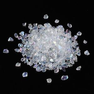Image 2 - Cuentas de cristal para fabricación de joyas, cuentas de cristal transparentes de 0,5 7mm y 3mm, Chips de vidrio, cuentas de piedra naturales irregulares, collar de pulsera sin agujero