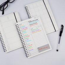 2020 2021 cadernos agenda diário semanal plano mensal espiral organizador a5 nota livros mensalmente horário transparente