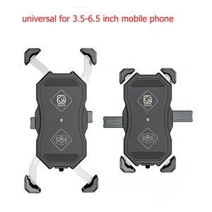 Image 2 - אופנוע טלפון מחזיק 15W אלחוטי חכם מטען QC3.0 חוט Charing 2 ב 1 חצי אוטומטי Stand 360 תואר סיבוב סוגר