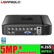 Enregistreur vidéo hybride DVR, 4 canaux, 8 canaux, AHD, 1080P, NVR, 4 en 1, pour caméra IP, caméra analogique