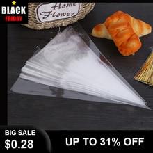 50pcs 일회용 파이핑 백 과자 가방 Lcing 파이핑 케이크 컵케익 장식 도구/가방 케이크 도구 소형/대형 Dropshipping