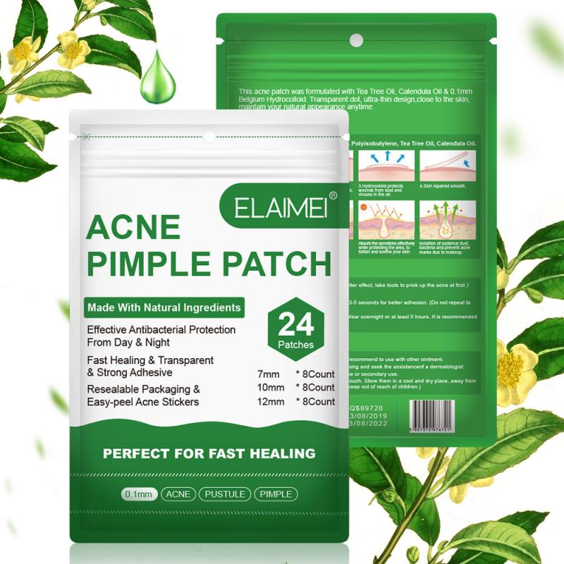 ELAIMI 24 Patches/bag Invisible Acne Removal Pimple Patch Treatment Pimple Acne Concealer Face Spot Scar Care Treatment Stickers