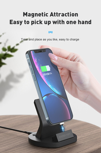 Image 3 - SIKAI Magnetic Charging Dock For iPhone/Micro USB/Type C Phone Holder 5A Magnet Charger For iPhone 11 pro huawei mate 30 pro