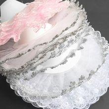 Decoration-Supplies Wedding Flower-Collar Bridal DIY 22cm Holder Bouquet Lace Scalloped