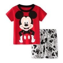 Toddler Pants Sports-Clothes-Set Boys-Set Mickey Summer Kids Shorts Baby t-Shirt Cotton