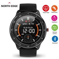 North Edge Smart Watch Pria IP68 Tahan Air HD Tampilan Penuh Layar Sentuh Smart Watch dengan Denyut Jantung Tekanan Darah Kebugaran Olahraga