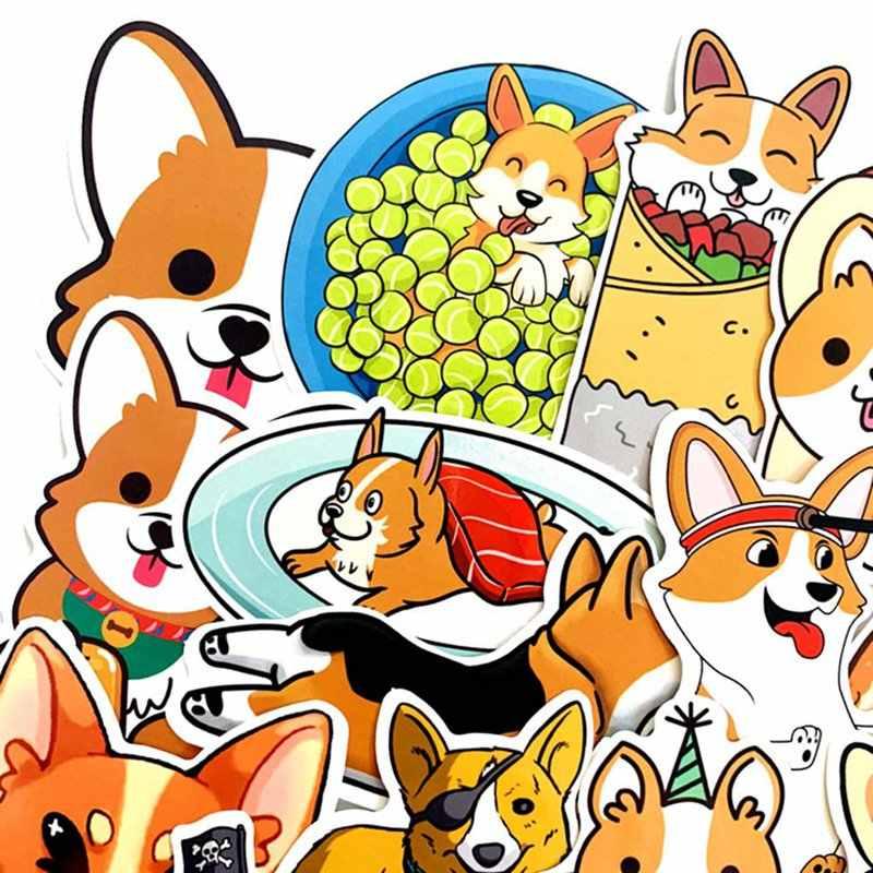Sevimli Husky Corgi Pet Köpek Bullet Dergisi Dekorasyon Washi Etiket Scrapbooking Sopa Etiket tekerlekli çanta Sticker