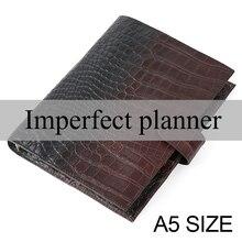 Limitado imperfeito anéis caderno a5 agenda organizador do diário do couro caderno diário sketchbook planejador de negócios escritório escola papelaria