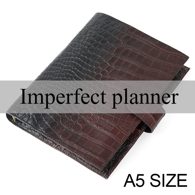 Limited Imperfect Rings Notebook A5 Agenda Organizer Cowhide Diary Journal Sketchbook Planner Business Office School Stationery