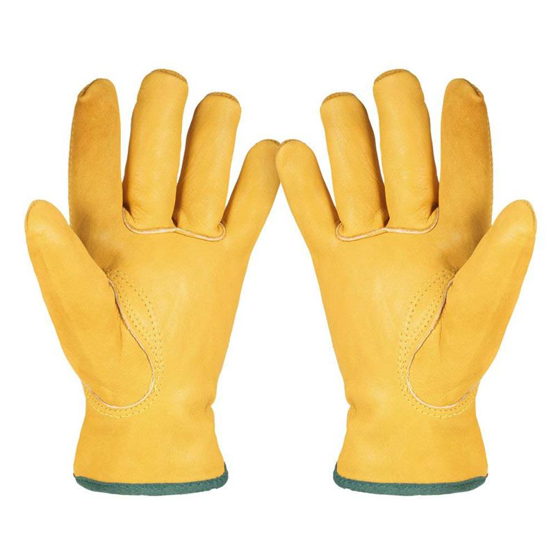<font><b>Leather</b></font> <font><b>Working</b></font> <font><b>Gloves</b></font> Men's Work Cowhide <font><b>Gloves</b></font> <font><b>Gardening</b></font> Digging Planting Plant Flower Pruning Protective <font><b>Glove</b></font> Driver Securit image