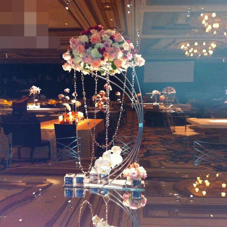 Грандиозное событие хрустальный свадебный цветок стенд цветочный стеллаж ваза для торта держатель для свадьбы День рождения отель стол це... - 6