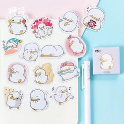Mohamm Cute Little Duck Mini Sticker Decoration DIY Scrapbooking Sticker Stationery Kawaii Diary Label Stickers Paper Craft