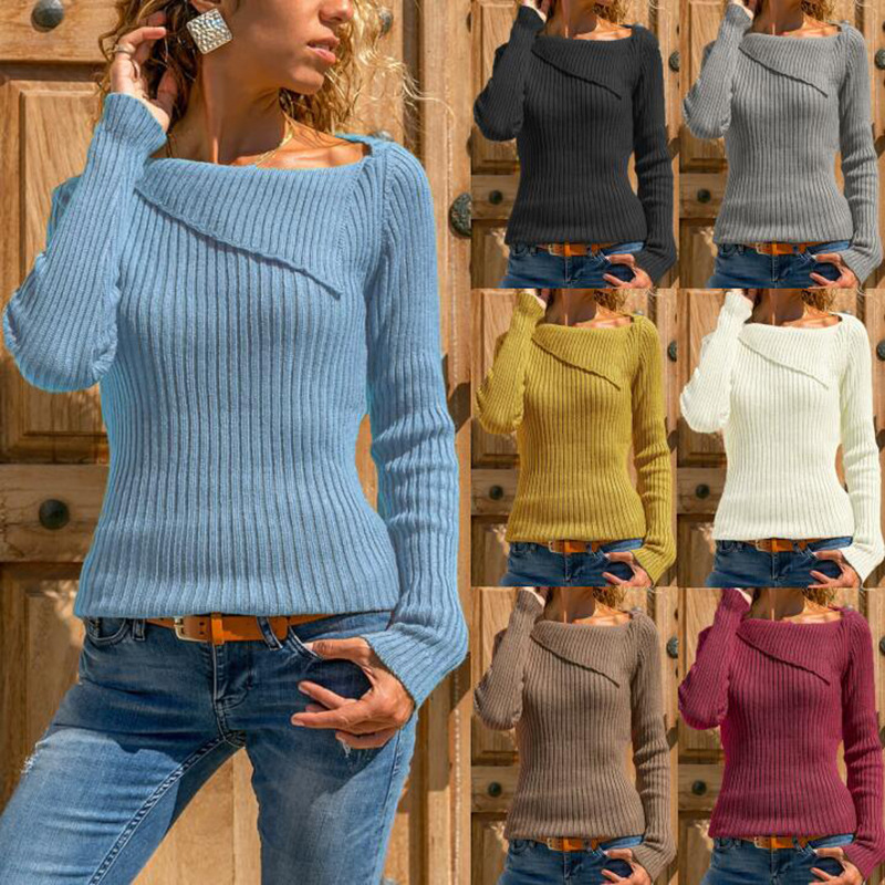 Autumn And Winter Sweater Women's Sweater Long-sleeved Sweater Shirt Top Shirt Sweater Women's Clothing