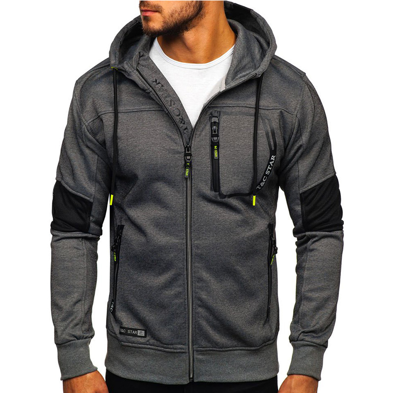 UNPADUPE Brand Fashion Mens Hoodies Men Zipper Design Hooded Slim Sweatshirt Mens Hoodie Hip Hop Hoodies Sportswear Tracksuit EU