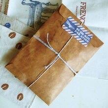 10 pçs/lote Convidado Do Casamento Envelopes Kraft Do Vintage Tampa Papelaria Retro Envelopes de Papel para o Presente Convite Envelope Cartão Postal