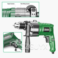 220V / 710W Small hand drill Multifunctional for home drilling Tighten the screws Electric drill ceramic tile board Impact drill|Electric Drills| |  -