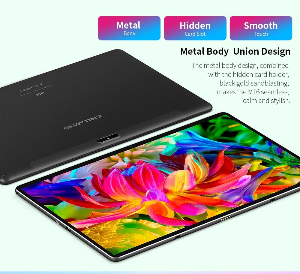 Teclast M16 Tablet 11,6 pulgadas 4G Phablet MT6797 (X27) Android 8,0*1920*1080, 2,6 GHz decoración CPU 4GB 128GB 8.0MP + 2.0MP Cámara Dual - 3