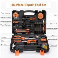 45pcs Home Repair Tool Set Daily Use Hardware Tool Kit Durable  Long Lasting Tools Perfect Hand Tool Set for DIY  Home Car|Hand Tool Sets|   -