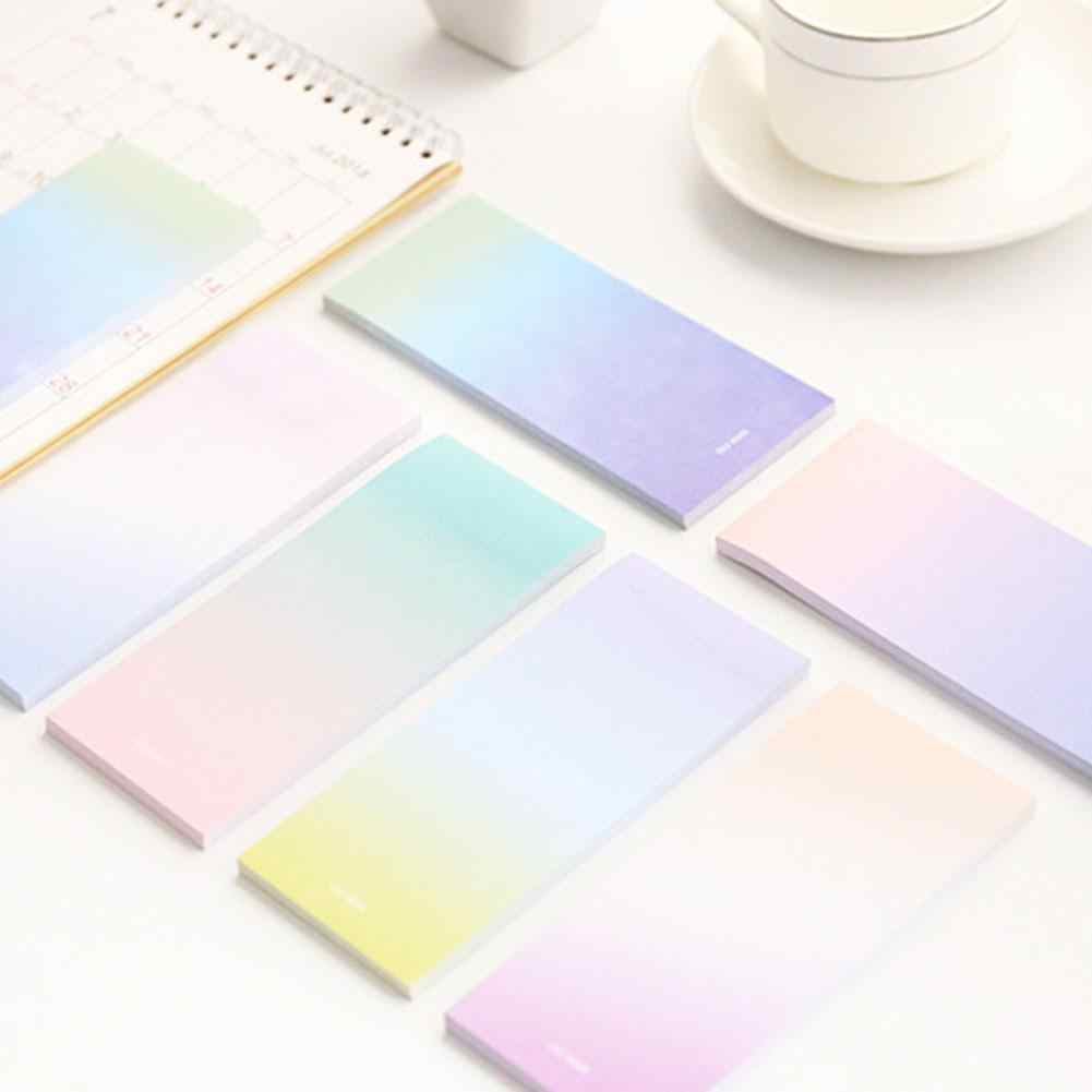 Gradient Light Color Memo Pad N Times Sticky Notes School Supply Bookmark Sticky Notes QKCR60