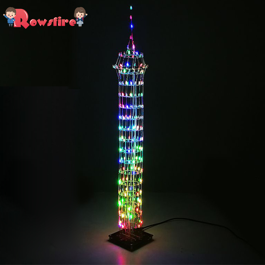 DIY Colorful LED Display Lamp Infrared Remote Control DIY Welding Light Kits DIY Lamp Brain-Training Toy - Macao Tower