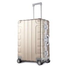 Bagage en alliage d'aluminium 100%, boîtier de chariot 24 pouces, valise à roulettes à l'arrivée