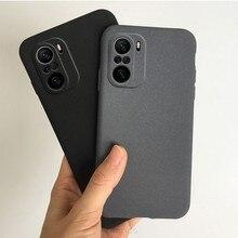 Coque de téléphone Xiaomi Poco F3 5G, étui mat en grès Ultra-fin, couverture arrière souple globale en Tpu, Fundas Capa, Poko F3