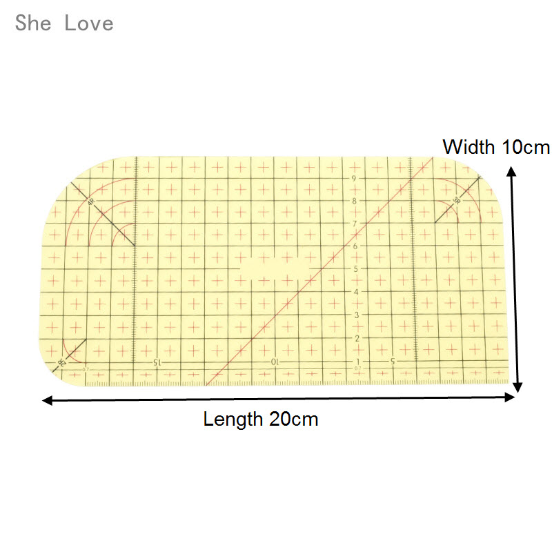 ZYP 2 PCS Hot Ironing Measuring Ruler-Patchwork Measuring Control ...