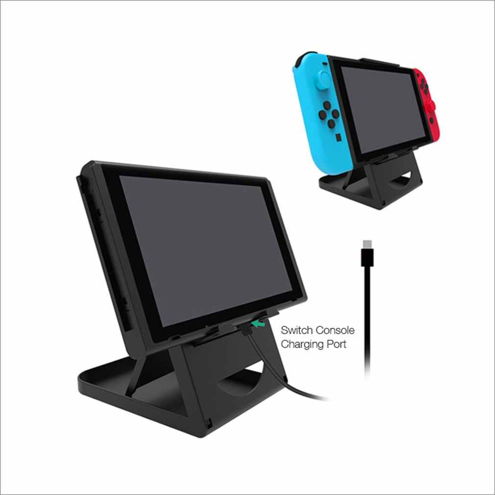 Portabel Tinggi Adjustable Pemegang Dukungan Bingkai Bracket Compact Playstand Desktop Stand Bracket untuk Switch NS Host