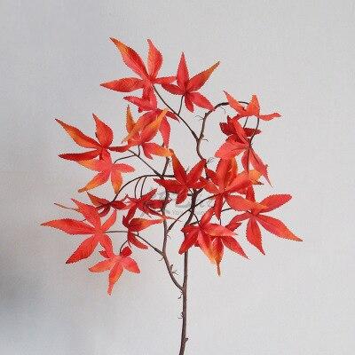 Wedding Decoration Simulation Maple Leaf Strips Studio Scenery Red Leaves Long Pole