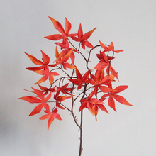 Wedding Decoration Simulation Maple Leaf Strips Studio Scenery Red Leaves Long Pole