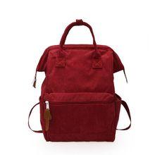 Women Corduroy Travel Backpack Solid Color Rucksack Laptop Book Schoolbag Shoulder Bag for Teenage Girl women corduroy travel backpack solid color rucksack laptop book schoolbag shoulder bag for teenage girl f42a