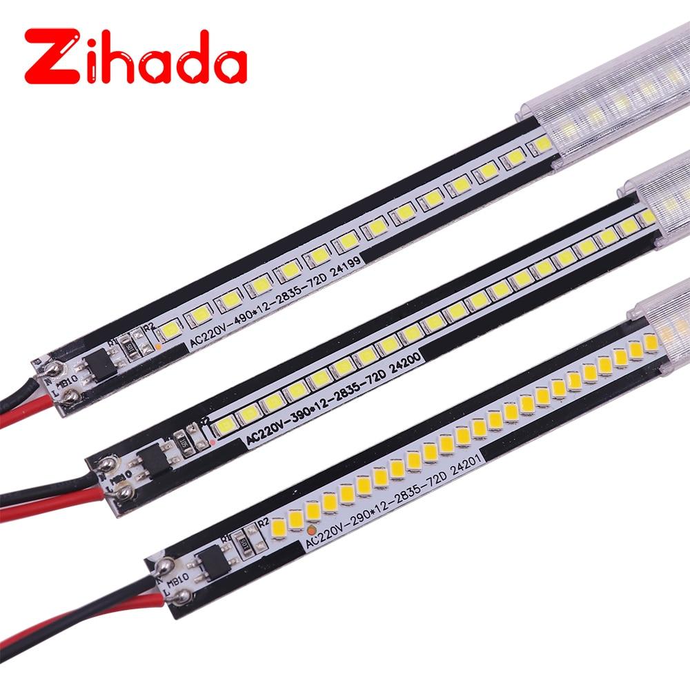 LED Bar Light AC220V High Brightness 50cm 40cm 30cm 72LEDs 2835 LED Rigid Strip Energy Saving LED Fluorescent Tubes 5pcs/lot