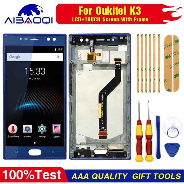 Nuovo Originale per Oukitel K3 Touch Screen + Display LCD Digitizer Assembly + Telaio Parti di Ricambio + Strumento di Smontare