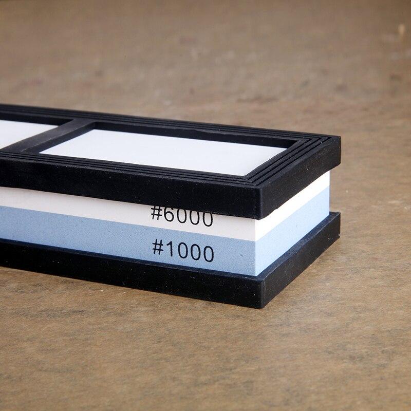 10006000 # lados dobro pedra de amolar da cozinha profissional afiar pedras para um sistema de faca sharpener diamante utensílios de cozinha