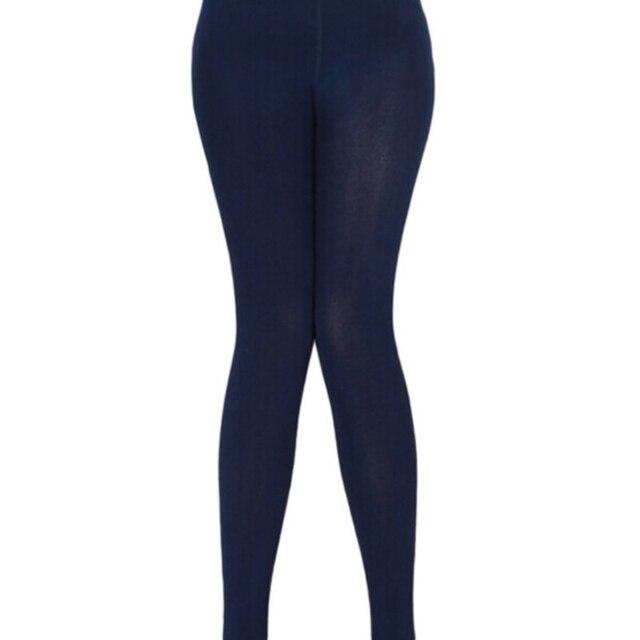 Solid Color Warm Pants Women Casual Leggings Fall Winter Girls Pencil Leggings Female High Elastic Slim Length Leggings 5