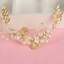Women Pearl Hair Combs Wedding Hair Accessories Hair Pin Rhinestone Tiara Bridal Clips Crystal Crown Bride Hair Jewelry Gifts
