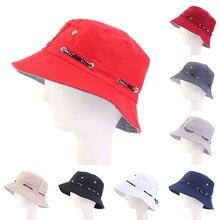 Лето складной ведро шляпа сплошной цвет хип-хоп Cap открытый пляж шляпа солнца черный Рыбалка шляпы Мужчины Женщины отдыха рыбаков