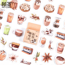 46pcs/lot Vintage Coffee Drinks Stickers Scrapbooking Diary Stickers Travel Decorative Planner DIY Crafts Stationery Stickers