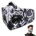 PM2.5 Пылезащитная маска с активированным углем черный kn95 дышащий складной изменяемый фильтр наружная велосипедная защита для бега маска для...