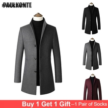 Warm wool woolen coat casual men fashion high quality long jacket trench