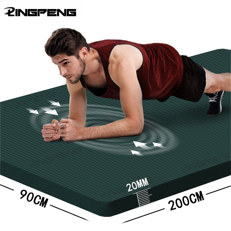 20MM Extra Thicken Non-Slip Men's Fitness Mat High Density Exercise Yoga Mats For Gym Home Fitness Exercise Gymnastics