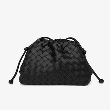 Designer Women Soft Pu Leather Shoulder Bag Fashion Ladies Crossbody Bags for Women New Casual Female Small Weave Messenger Bags