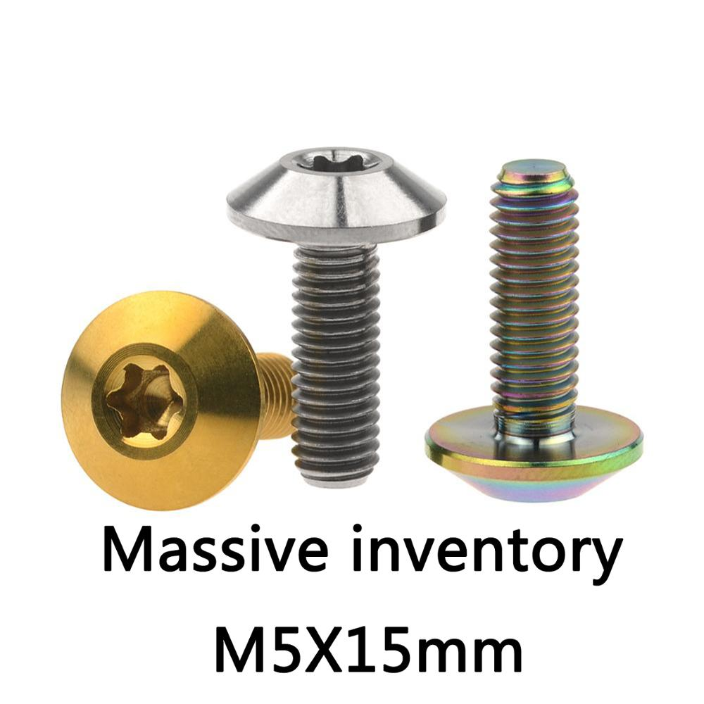 6PCS Ti Countersunk Screws M5x10mm Allen Hexagon Socket Head Bike Titanium bolt