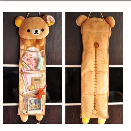Japan Cartoon Rilakkuma Relax Bear Plush Toy Cute Long Hanging Kawaii Storage Bag Girl Creative Gift Home Decor