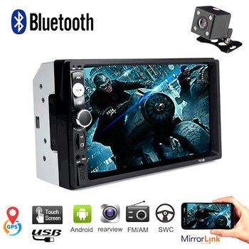 2 Din Car Radio Bluetooth 7 Touch Screen Autoradio Stereo FM Audio MP5 Player SD USB TF Camera Mirror Link