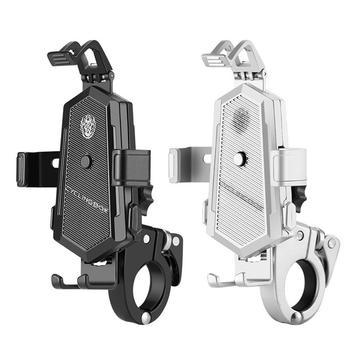 Uchwyt na telefon rowerowy uniwersalny antypoślizgowy regulowany obrót o 360 stopni kierownica MTB podstawka pod telefon stojak GPS akcesoria rowerowe tanie i dobre opinie LACYIE CN (pochodzenie) Motocyklowy uchwyt na telefon black silver about 62mm 2 44 inch (maximum to about 92mm 3 62 inch adjustment)